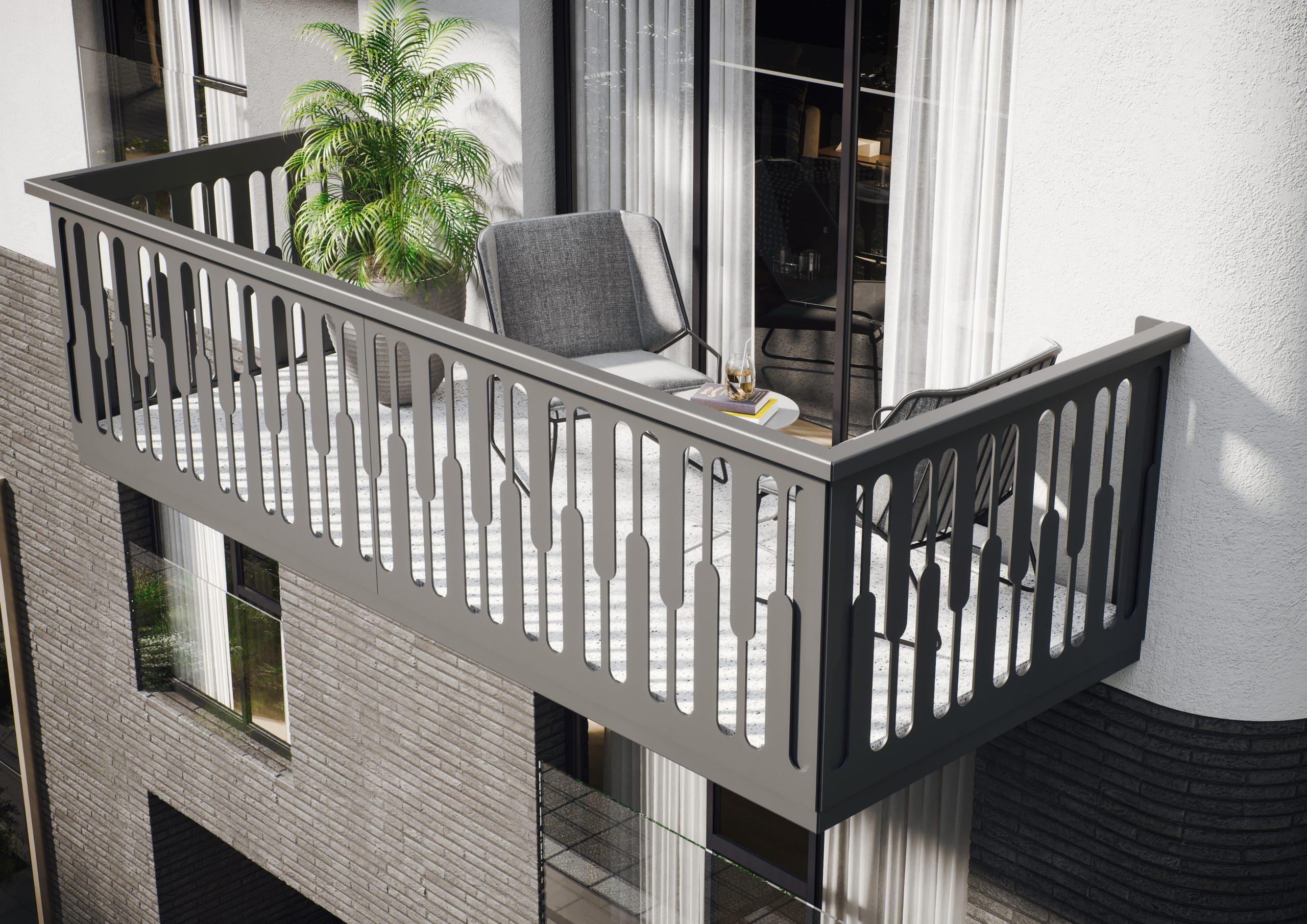 NILS Balkonbrüstung in grau