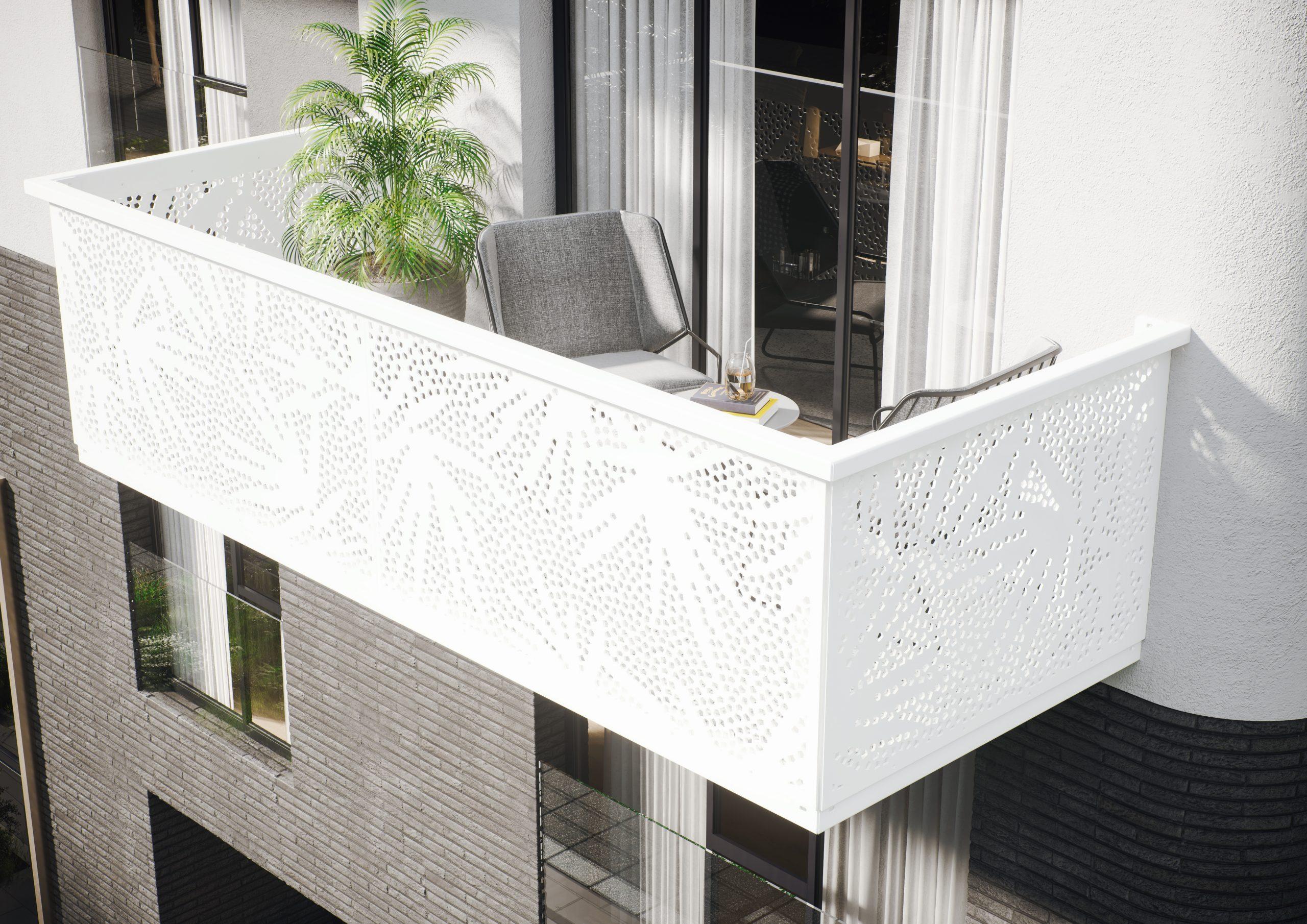 PALMO Balkonbrüstung weiß