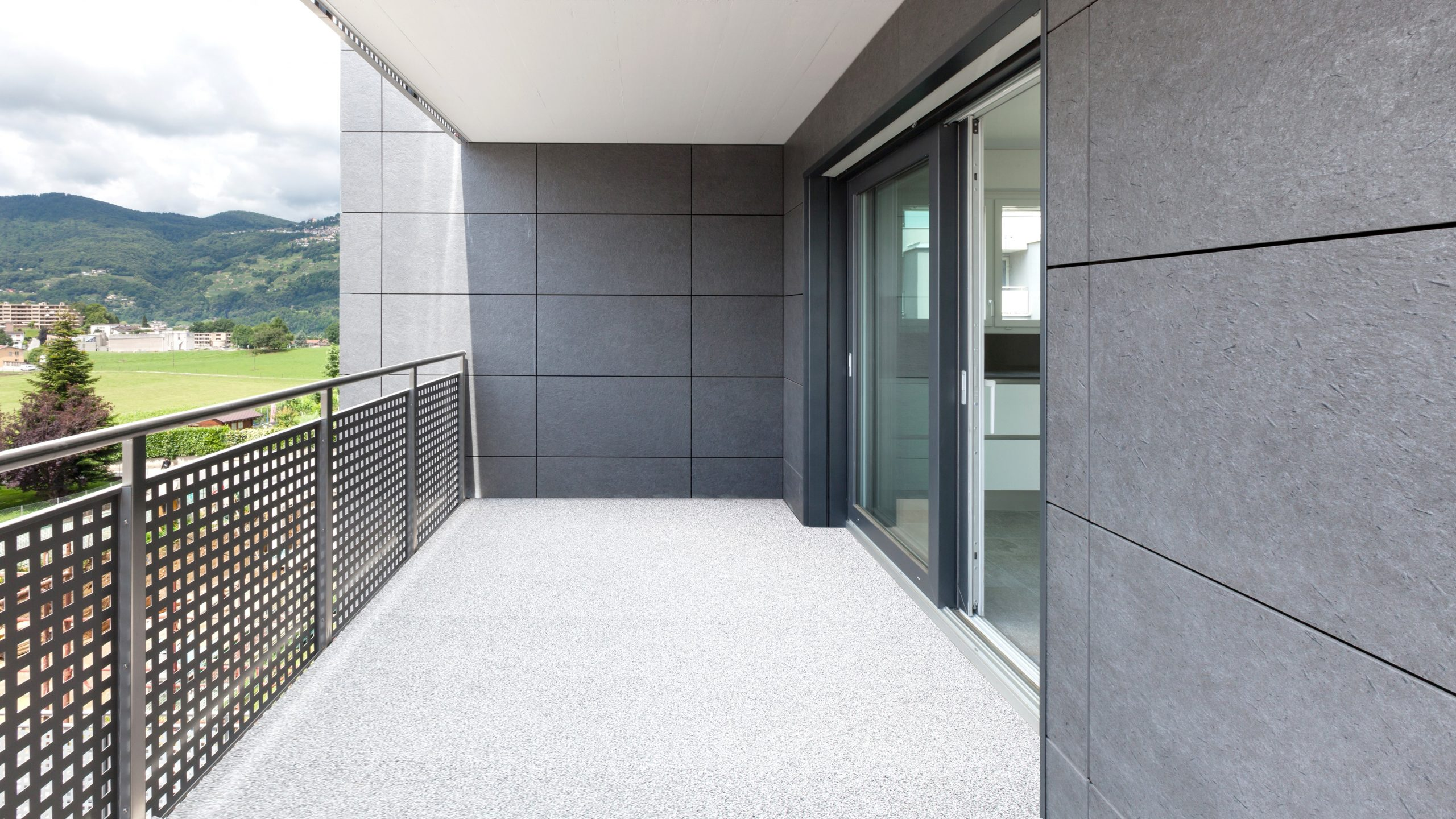 Nischenbalkon BALKOFLOOR Aluminium Bodenbelag für Freiflächen