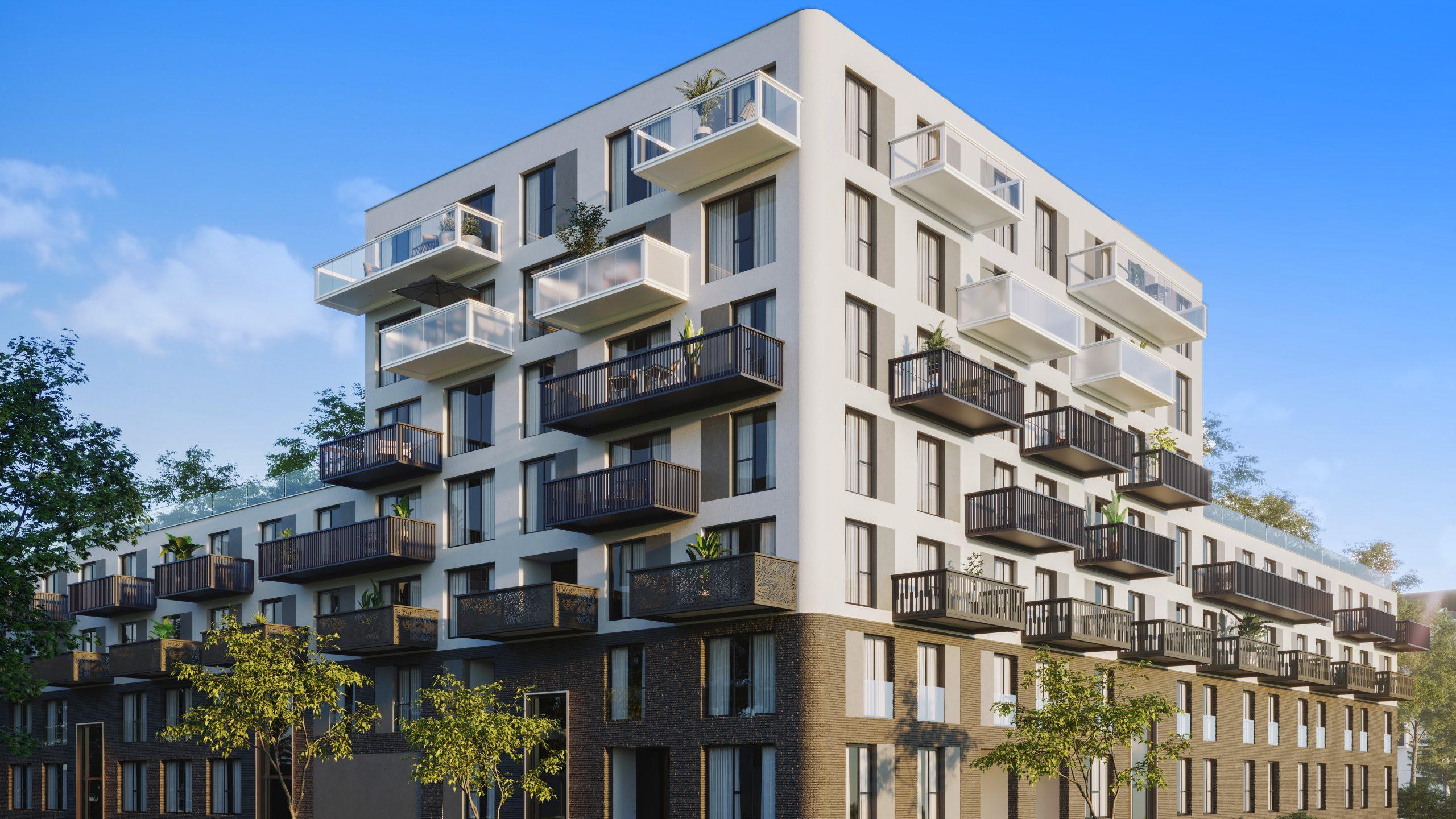 Flexibles Bausystem für Balkone aus Stahl