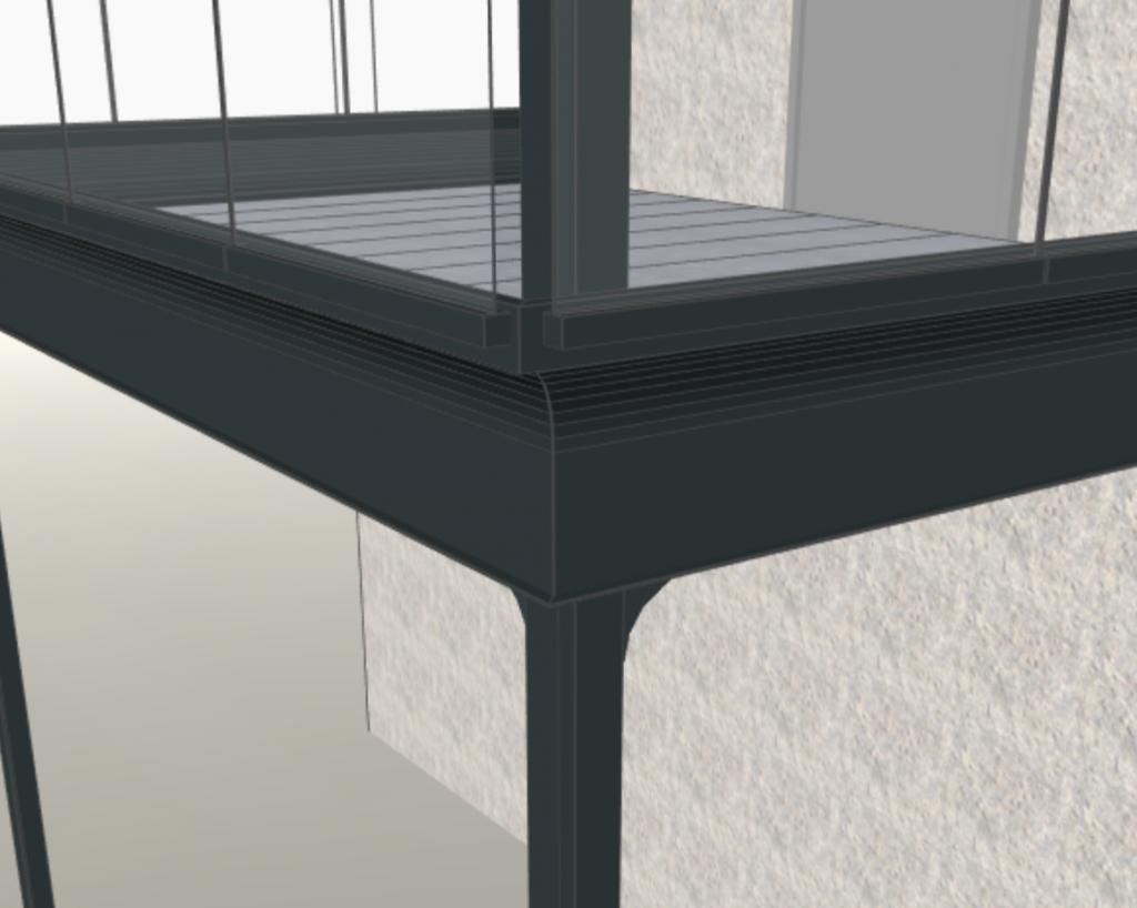 Sockelblech für Stahlbalkone