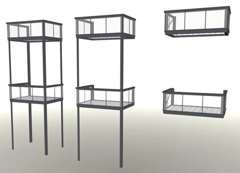 Flexibles Bausystem für Stahlbalkone